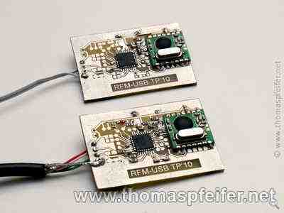 RFM12<->USB Test-Boards
